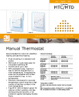 Underfloor heating thermostat datasheet