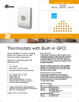 Warm tile thermostat datasheet